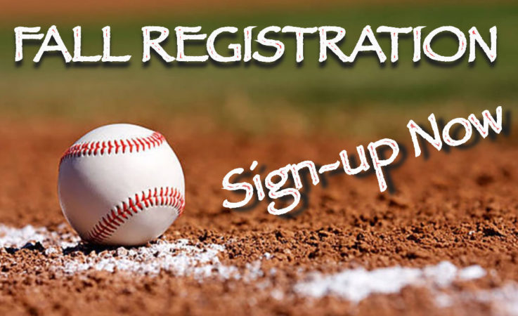 Fall Registration: Sign-up NOW